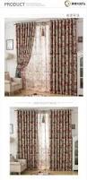 fashion rustic living room bedroom window curtains shade cloth