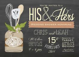 wedding shower invitations his and hers wedding shower invitations 6036