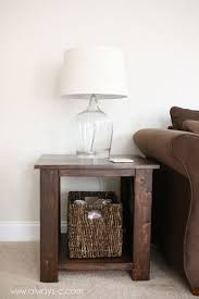 here u0027s an idea for simple cheap diy end tables do it yourself