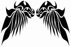18 beautiful tribal wings tattoos only tribal