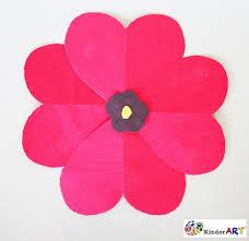 heart poppies veterans remembrance day november kinderart