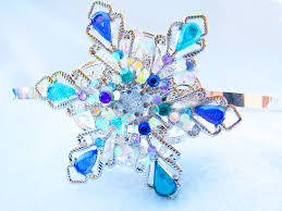 Snowflake Halloween Costume Headband Snowflake Tiara Snow Queen Frozen Steampunk Crystals