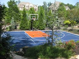 Backyard Sport Courts by Backyard Basketball Court Landscape Eclectic With Basketball Court