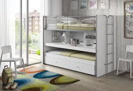 lit superposé avec bureau lit superposé 90x200 cm avec bureau et tiroir lit en panneaux de