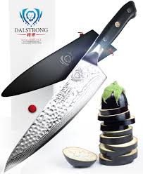 dalstrong chef knife 8 u2033 u2013 vg10 hammered finish the perfect steak