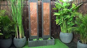 twin tower bamboo wall fountain youtube