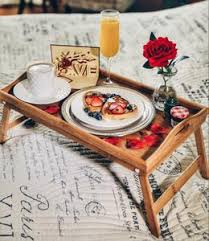 breakfast in bed table bamboo breakfast in bed table romance helpers