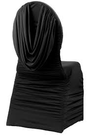ruched chair covers swag back ruched spandex banquet chair cover black cv linens