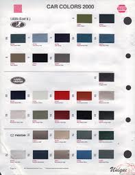 2000 land rover green land rover paint chart color reference