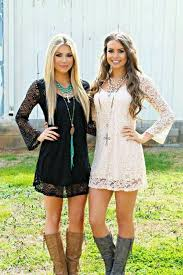 dresses with boots 19 fall winter idea s to copy right now lace dress