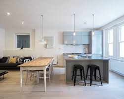 kitchen island overhang contemporary london with faux leather