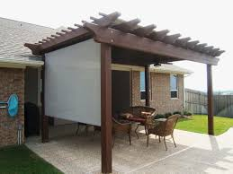 Shades For Patio Covers Pergola Design Awesome Pergola Side Covers Pergola Screen Panels