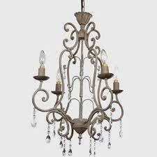 Iron Chandelier With Crystals Ceiling Antique Farmhouse