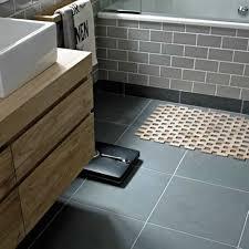 subway tile bathroom floor ideas black bathroom flooring ideas with grey subway tiles