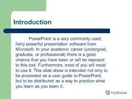 introduction to powerpoint презентация на тему