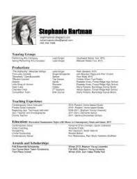 Example Of A Dance Resume Pleasurable Design Ideas Dance Resume 7 How To Write A Dance