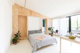 small flat takes advantage of reduced space in a big way batipiin flat by studiowok living room turned into bedroom