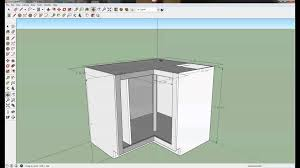 Sketchup Kitchen Design Kitchen Cabinets Designing A Lazy Susan Youtube