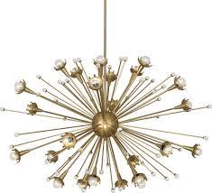 Vintage Sputnik Light Fixture Vintage Style Metal 18 Light Sputnik Chandelier Black Intended For