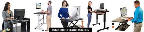 standing desk workstation desk working healthy fit in the office