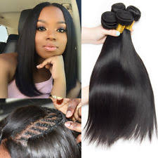 sew in sew in peruvian straight bundle hair extensions ebay