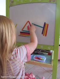 learn with play at home sticky easel coloured craft sticks and