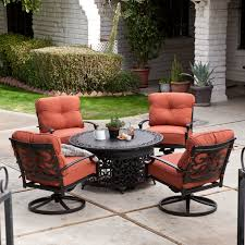 Agio Haywood by Belham Living San Miguel Cast Aluminum Fire Pit Chat Set Hayneedle