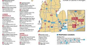 Cities In Michigan Map by Michigan Casinos Map Of 25 Existing And 22 More That Are Planned