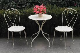 Patio Furniture Bistro Set - 3 piece metal garden patio furniture bistro set round table u0026 2