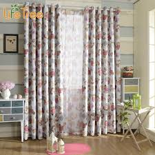 Blackout Curtains For Girls Room Aliexpress Com Buy Cute Bear Printed Children Blackout Curtains