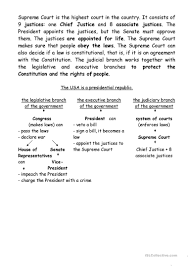 American Government Worksheets Us Government Worksheet Free Esl Printable Worksheets Made By