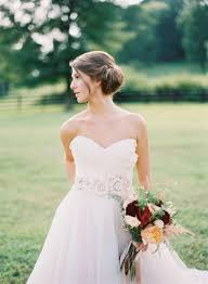country wedding hairstyle relaxed bun photograph elisa bricker