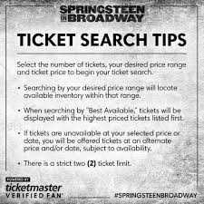 bruce springsteen verified fan ticketmaster on twitter verifiedfan emails for tomorrow s
