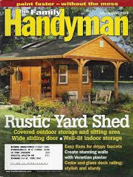 Yard Sheds Plans by Decor Shed Plans 10x12 8x8 Shed Plans Family Handyman Shed