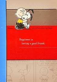 peanuts good friend great birthday card greeting cards hallmark