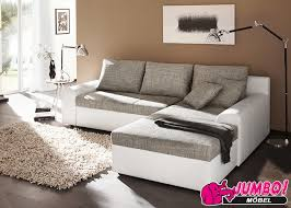 sofa grau weiãÿ wohnlandschaft snake in weiß grau sofa mit bettfunktion