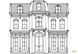 victorian home coloring page free printable coloring pages