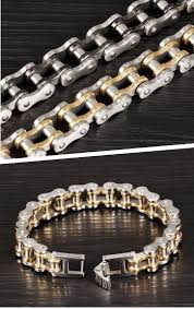 mens stainless steel chain bracelet images Cool stainless steel men 39 s biker chain bracelet project yourself jpg