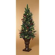 48 cordless pre lit led entryway tree in urn