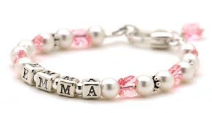 baby bracelets personalized personalized beaded bracelet childrens names bracelets jewelry