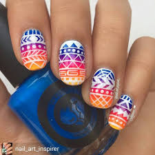 84 cute u0026 colorful tribal nail art designs for summer 2017 aztec