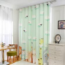 Jungle Curtains For Nursery Light Green Zoo Patterned Nursery Curtains