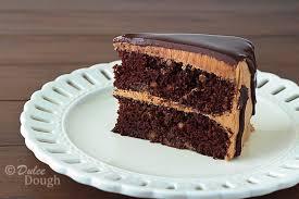 chocolate peanut butter cake with ganache glaze dulce dough recipes