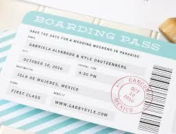 Save The Date Destination Wedding Boarding Pass Save The Date Destination Wedding Save The Date