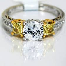 fancy yellow diamond engagement rings simon g fancy yellow diamond three semi mount engagement