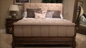 touraine upholstered sleigh bedroom set by fairmont designs youtube