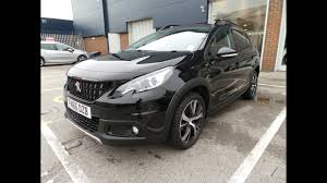 peugeot 2008 2017 2016 66 peugeot 2008 1 6 bluehdi 120 gt line 5dr in black youtube