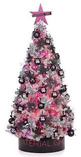 my pink tree pink lights with black and silver