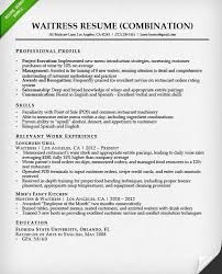 Waitress Resume Examples by Fashionable Inspiration Server Resume Sample 11 Food Service