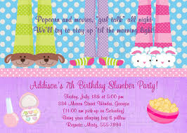 slumber party invitation pajama party digital file